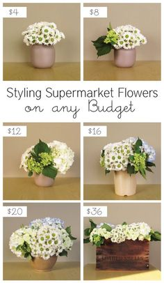 Bang For Your Buck Styling Supermarket Flowers On Any Budget