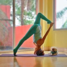 This headstand variation. Enjoyed and repinned by yogapad.com.au