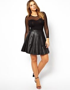 ASOS CURVE Body With Sweetheart Mesh at asos.com by US Asos on CurvyMarket.com Plus Size