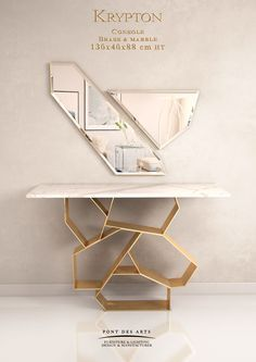 Come get inspired with these amazing luxurious console tables designs at http://www.maisonvalentina.net/