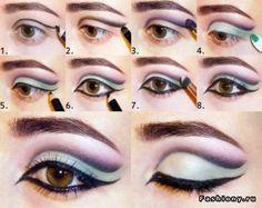 восточный макияж глаз..себе не  сделаю))