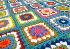 Ready to ship. Flower  Afghan Handmade Hand by MingazovArt on Etsy
