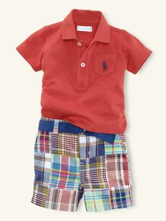 Patchwork Short Set - Outfits & Gift Sets   Layette Boy (Newborn–9M) - RalphLauren.com