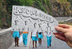 Ben Heine est un illustrateur et photographe Belge qui fêtera bientôt ses 28 ans. Il est internationalement connu pour ses travaux très créatifs et notamment la série « Pencil Vs Camera ». Il s'agit de superposer un dessin à la réalité et de prendre une photo dans le bon angle afin de donner l'impression que le dessin […]