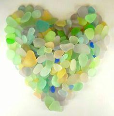 Sea glass shaped heart