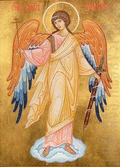 Icon of The Guardian Angel Amazing Amazing Ангел Хранит. Raphael Angel, Archangel Raphael, Religious Icons, Religious Art, Guardian Angels, The Guardian, San Gabriel, Paint Icon, Angel Images