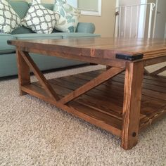 DIY Coffee Table Modified from plan