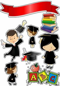 Graduation Free Printable Cake Toppers Oh My Fiesta in english Graduation Cupcake Toppers, Graduation Cookies, Nurses Week Quotes, 3d Cards, Graduation Cards, Aesthetic Stickers, Baby Cards, Scrapbook Paper, Free Printables