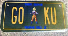 Super Saiyan Goku Bike Plate