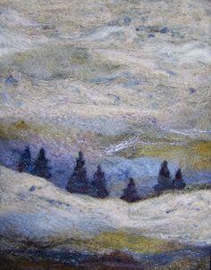 No.716 Treeline  Needlefelt Art XLarge by Deebs on Etsy, $130.00