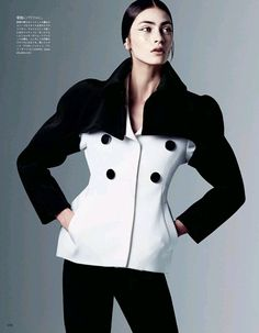 VOGUE JAPAN- Marine Deleeuw in Dressing In Black And White by Steven Pan. Vanessa Traina, August 2013, www.imageamplified.com, Image Amplified (4)