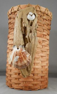 Free Standing Driftwood Basket by DreamweaverBasketry for $25.00