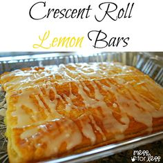 Crescent Roll Lemon Bar Recipe ~ Says: These are perfect warm for breakfast or as a snack. My kids devoured them. Simple to make using crescent rolls and lemon creme.