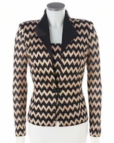 #Chevron lace jacket can make any occasion special #SteinMart