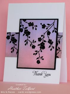 I delved into the CAS favorites thread at Splitcoast again for inspiration before making this card. I came across this lovely sponged panel card and wanted to create something just like it. I prefe...