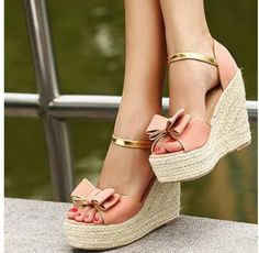Casual Summer Shoes - Must Have Footwear Collection. The Best of wedges in - Shoes Fashion & Latest Trends Pink Sandals, Wedge Sandals, Wedge Shoes, Shoes Sandals, Sandals Outfit, Espadrille Wedge, Pink Shoes, Dream Shoes, Crazy Shoes