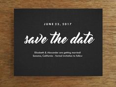 Printable Save the Date - Retro Chalkboard. A black and white, editable printable save the date card you can quickly and easily download, print at home and send.