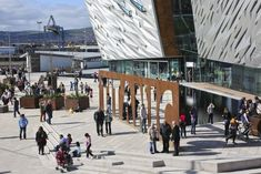 A Museum Dedicated To The History and Demise of Titanic In Belfast . Titanic Museum, A Night To Remember, Entrance, Street View, History, Places, Loin, Northern Ireland, Europe