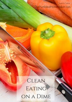 Clean Eating on a Dime is Possible! I used to stop listening to people talk about healthy eating because I believed healthy choices were expensive. But clean eating on a dime is possible ... and it's not that difficult! Here are 5 ways your family can eat clean without breaking the bank!