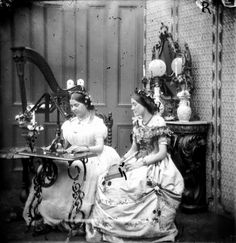Quilting and Sewing Are a Part of Women's History: Two Sisters Sewing, 1865