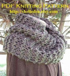 PDF Knitting Pattern for Outlander Cowl by Shelleden on Etsy