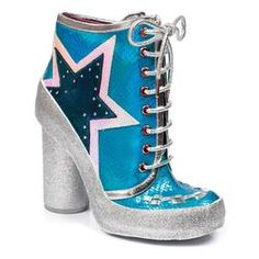 04f34499fa3d2 Milovat IRREGULAR CHOICE 70s Retro Glitter Boots