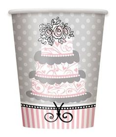 Elegant Wedding Cups 8ct
