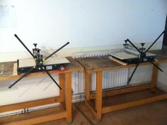 Etching presses all ready for action... https://www.westdean.org.uk/study/short-courses