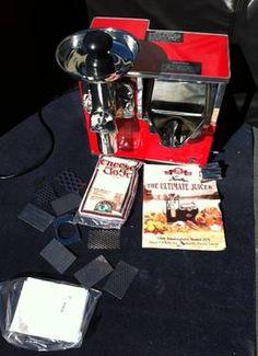 Norwalk Juicer 75th Anniversary Model 275-Red Norwalk Juicer, Commercial Juicer, Kitchen Aid Mixer, Kitchen Appliances, Juicing, Espresso Machine, Sweet Home, Anniversary, Model