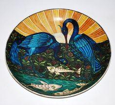 William De Morgan - Dish With Herons and Fish http://www.demorgan.org.uk/