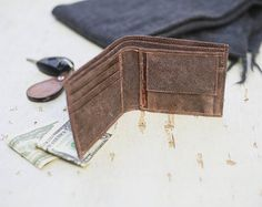 Your place to buy and sell all things handmade Brown Wallet, Leather Wallet, Great Gifts, Buy And Sell, Handmade, Stuff To Buy, Hand Made, Amazing Gifts, Craft