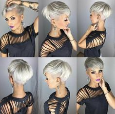 Today we have the most stylish 86 Cute Short Pixie Haircuts. We claim that you have never seen such elegant and eye-catching short hairstyles before. Pixie haircut, of course, offers a lot of options for the hair of the ladies'… Continue Reading → Popular Short Hairstyles, Short Pixie Haircuts, Funky Hairstyles, Short Hair Cuts, Pixie Cuts, Fall Hairstyles, Woman Hairstyles, School Hairstyles, Black Haircut Styles