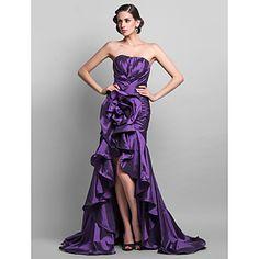 труба / Русалка возлюбленной тафты длиной до пола, вечернее платье – USD $ 149.99