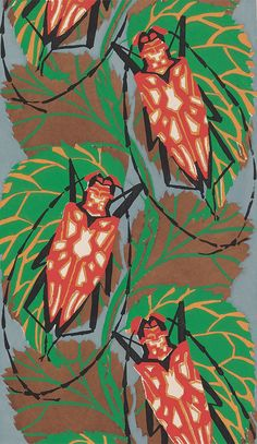 Eugène Séguy: Insectes on Miss Moss · just gonna file this under coolest things ever. these are illustrations by French entomologist Eugène Séguy… Textiles, Textile Prints, Textile Patterns, Print Patterns, Lino Prints, Block Prints, Illustrations, Illustration Art, Impression Textile