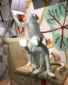 Monkey, Dinosaur Stuffed Animal, Table Lamp, Toys, Animals, Design, Home Decor, Kunst, Activity Toys