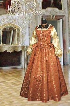 Renaissance Style Dress Ensemble including by YourDressmaker, $275.50