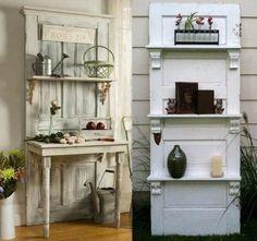 Idées pour recycler vos vieilles portes                                                                                                                                                     Plus                                                                                                                                                                                 Plus