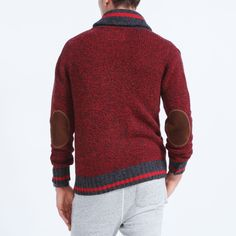 Men's Roots Cabin Shawl Cardigan - F/W 2015/2016, style 01050327, Lodge Red