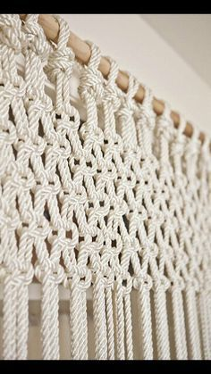 Macrame pattern for curtains