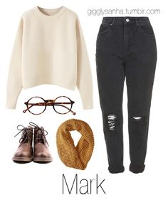 """""""Coffee Date (Winter) // Mark"""" by suga-infires ❤ liked on Polyvore featuring Topshop, Retrò and Smartwool"""