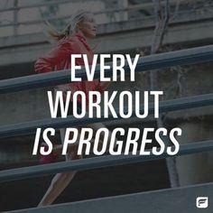 Fitness Motivation : Every workout is progress. - All Fitness Fitness Motivation Pictures, Running Motivation, Fitness Quotes, Weight Loss Motivation, Workout Quotes, Health Motivation, Exercise Quotes, Exercise Motivation, Keto