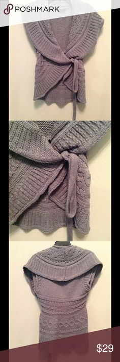 NWOT BCBG Sweater Large Side Wrap sweater In beautiful gray.  Large BCBGMaxAzria Sweaters