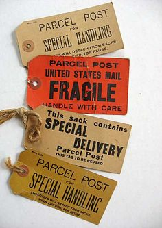 LOVE these vintage shipping tags!