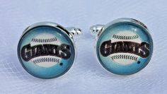San Francisco Giants Cufflinks made from Baseball Trading Cards #sfgiants