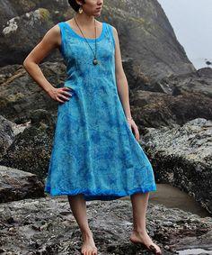 Look at this #zulilyfind! Capri Blue China Sleeveless Dress by Island Tribe Apparel #zulilyfinds