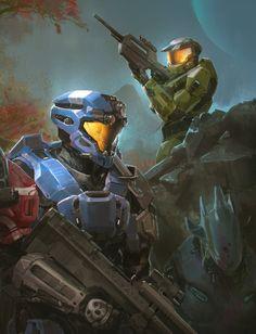 Halo Commission for Mike Jenkins by TDSpiral.deviantart.com on @DeviantArt