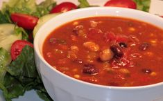 This hearty thick chili has an almost meaty taste without a meat or 'meat-like' product in sight! Hooray!