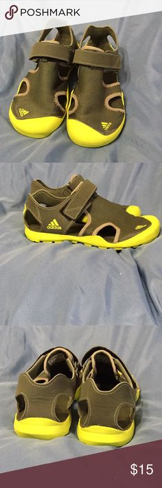online retailer efb72 c56d5 Youth adidas sandals Youth amphibious shoes- great for land and water!!  Army green