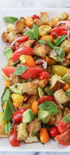 Avocado Panzanella Salad - delicious late summer salad recipe