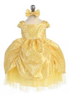 Yellow Gorgeous Princess Infant Dress
